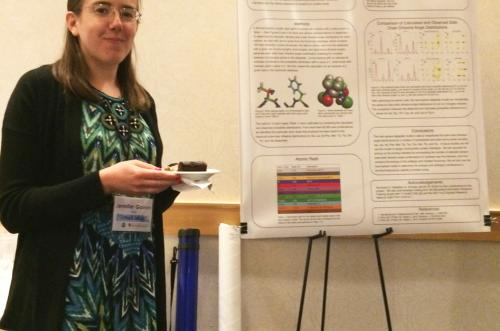 2015 meeting: Computational Biology and Bioinformatics graduate student presenting her research.