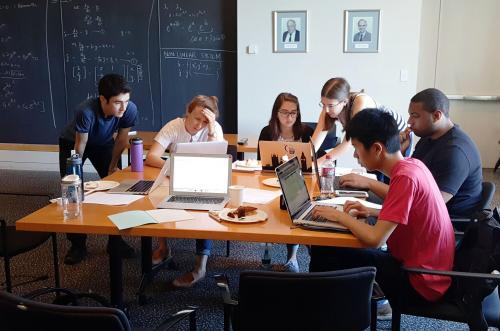 Students learning how to code using MATLAB in the Integrated Workshop short course.