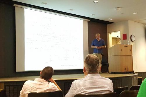 Prof. Andre Levchenko giving a talk at the 2016 iPoLS meeting.