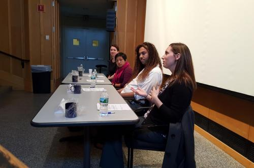 'Careers in Academia' panelists discussing their positions